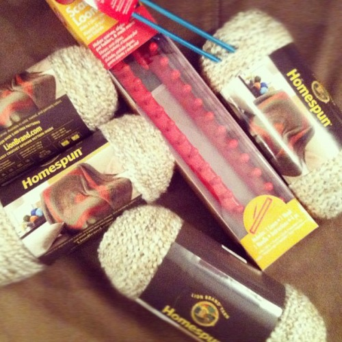 In honor of it being cold! Can't wait to try the loom! (Taken with instagram)