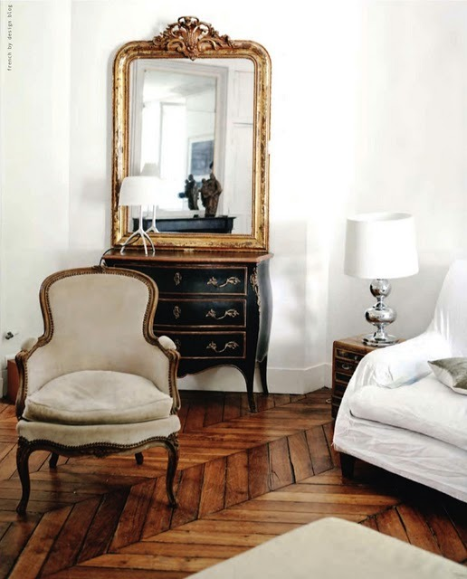 Oh that chair is sexy!! Carved wing French armchairs are so quintessentially elegant. I can't wait until I don't have to stick to a student budget so I can go buy a couple!