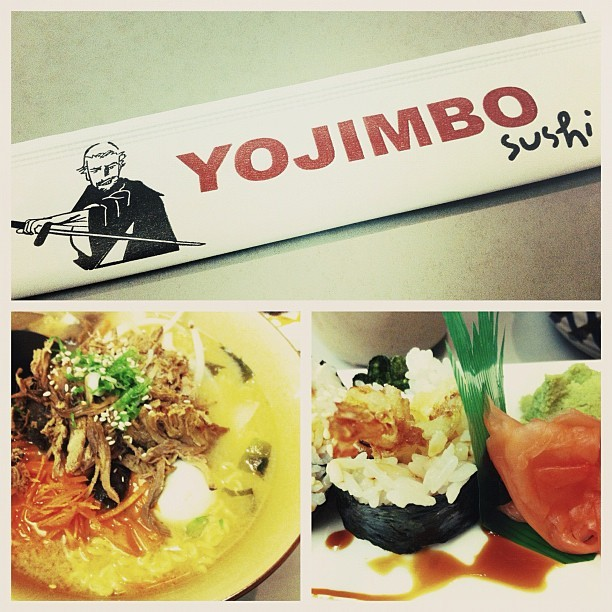 Yojimbo1221 Park St(between San Jose Ave & San Antonio Ave) Alameda, CA 94501  It ain't no Daikokuya (LA) or Katana-ya (SF) for ramen, but I'd come here for the sushi if Sushi House (Alameda) is packed.