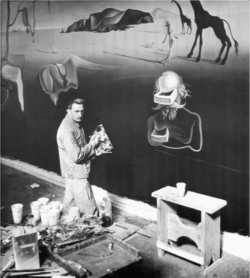 kvetchlandia:  Uncredited Photographer      Dalí at Work on 'The Dream of Venus,' Flushing, New York, World's Fair      1939