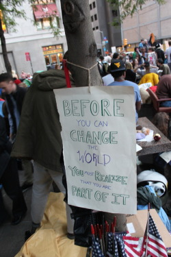 a-genuine-revolt:  Took this when I went to Occupy Wall Street. I am so glad I had the chance to go and participate.
