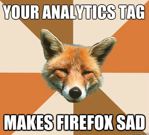 Your analytics tagging makes Firefox sad #measure