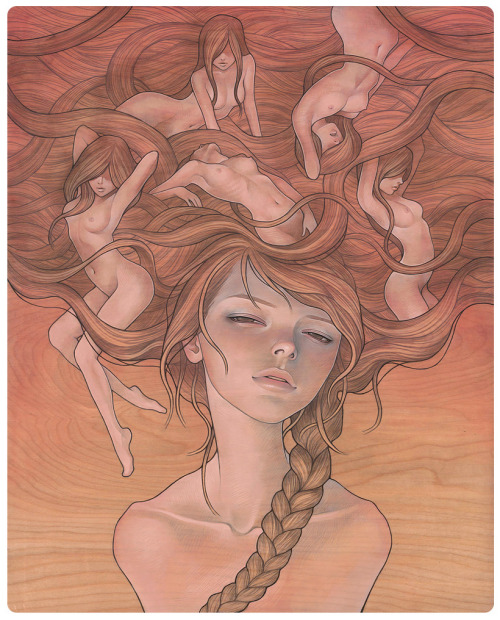 suicideblonde:  She Entwined by Audrey Kawasaki