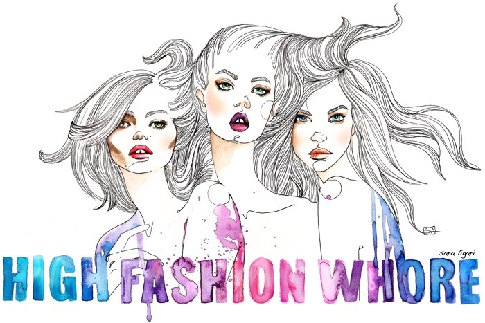 Kate Moss, Linsey Wixon and Barbara Palvin Banner for High Fashion Whore blog