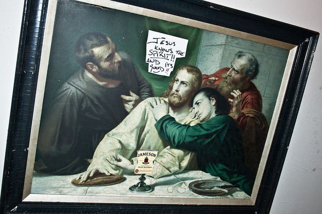Dubliners, Jesus and Jameson on Flickr.Jesus knows the spirit!