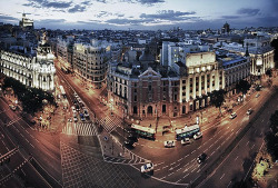 allthingseurope:  Madrid under blue (by cuellar)