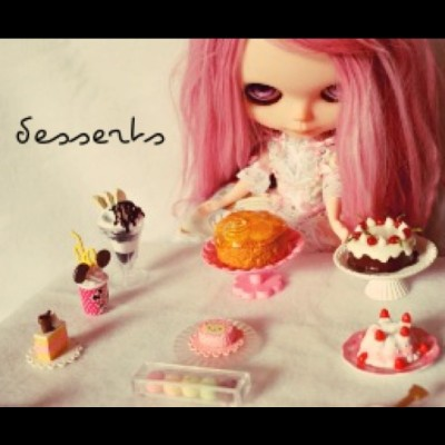 #Blythe #dolls #toys #pink #rement #mini #cookies #cake #macaroons #cherries #kawaii #cute #adorable #instagram #instagood #igers #igaddict #photography #popular #pretty (Taken with instagram)