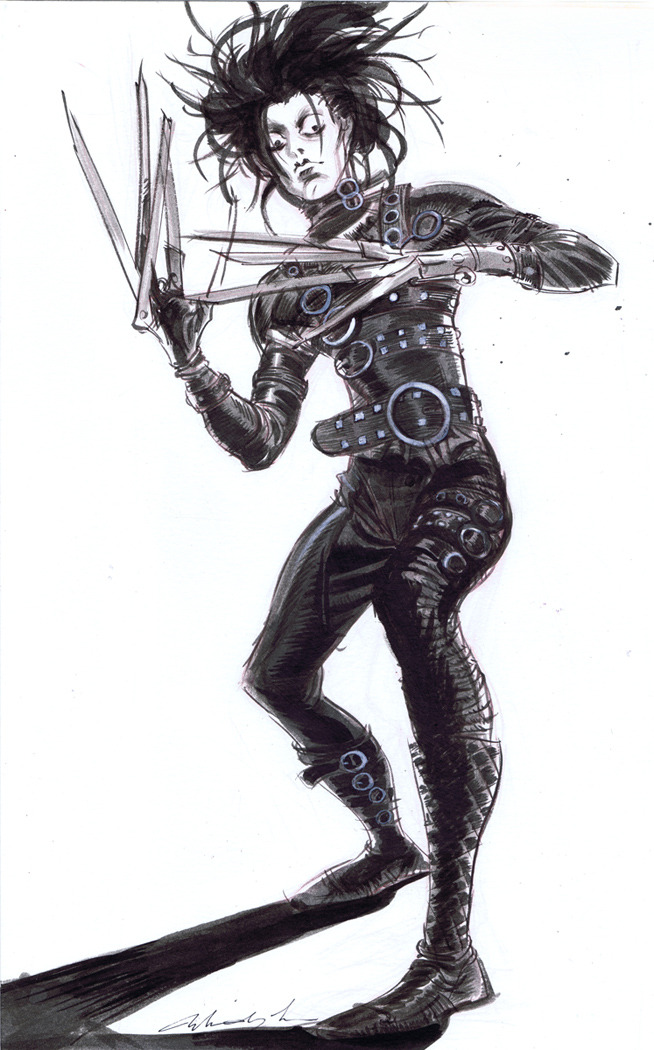 xombiedirge:  Edward Scissorhands by Mindy Lee