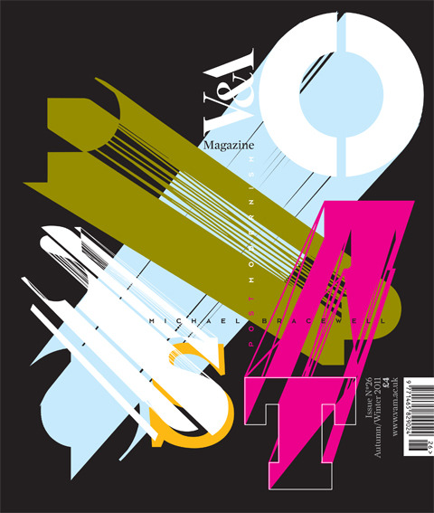 c86:  Neville Brody's cover art for the forthcoming issue of the V&A Magazine, referencing the museum's Postmodernism exhibition via Research Studios