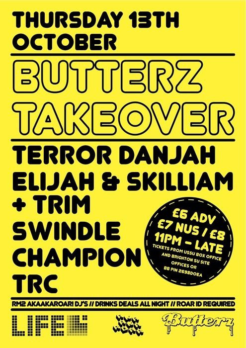 @ButterzRecords at Life, Brighton, Thursday 13th October 2011