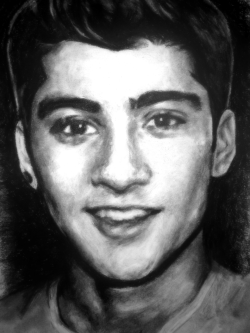 1d-bieber-support:  Hey guys! I'm back with another drawing! For this piece I decided to explore softer, darker tones. Again, using black charcoals and it took me about a day to draw. Hope you guys like this one! Up Next: NIALL