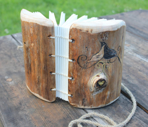 Rustic Wood Journal by creatring