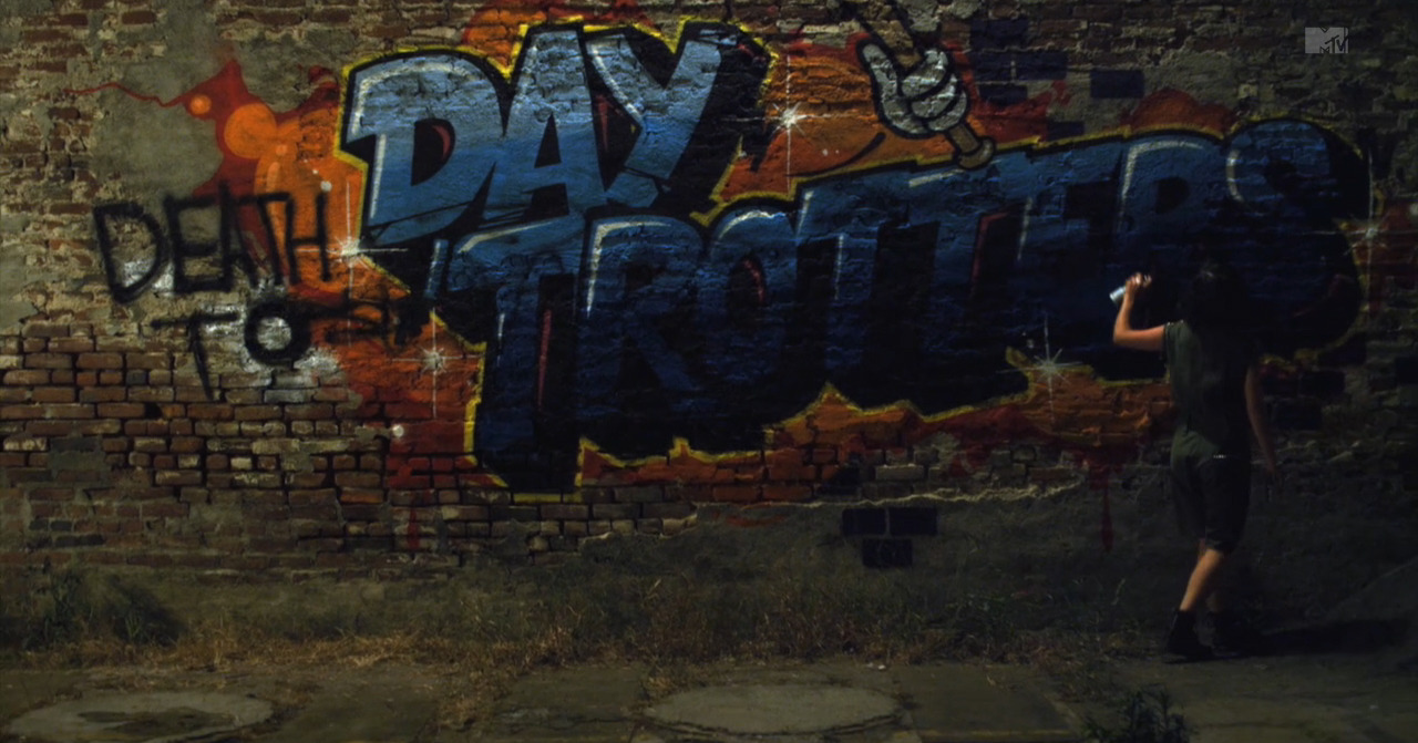 Day Trotter graffiti art from the short film 'Our Deal'. A Best Coast music video directed by Drew Barrymore