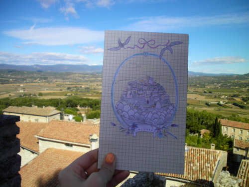 This is the first in a series of greeting cards I'm making about Provence. This one's Lacoste.