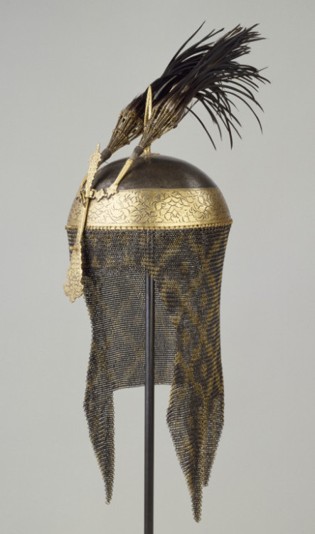omgthatdress:  18th century Indian helmet via The Victoria & Albert Museum