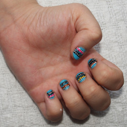 My Aztec nail tutorial.