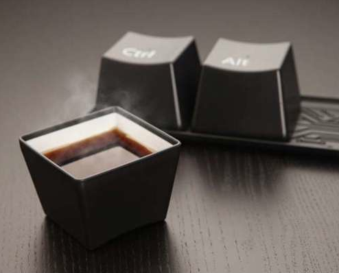Ctrl - Alt - Delete Cup Set Love these, I want them in black and white!