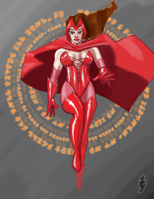 cantrellstuff:  Final Scarlet Witch.  -