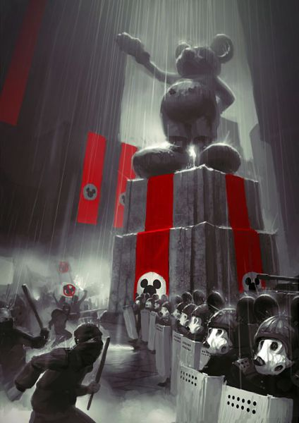 whiterthanblack:  Nazi Mickey ! Lol .