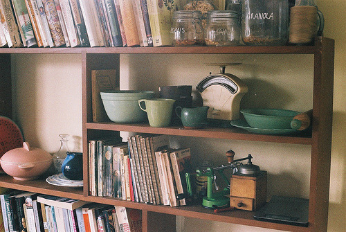 thevelvetdrapes:  some of my green things (by c a i tlin)  Oh god, we had one of those old school coffee grinders when I was a kid! Nostalgia trip!