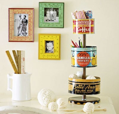 tin tower and ruler picture frames