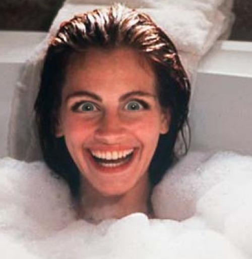 Julia Roberts as Vivian Ward with Michele Bachmann eyes.