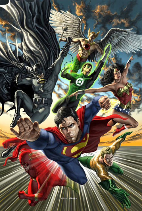 reckless-escapist:  JLA by ~caiocacau