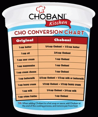 Who knew you could use Chobani instead of other things? So healthy!