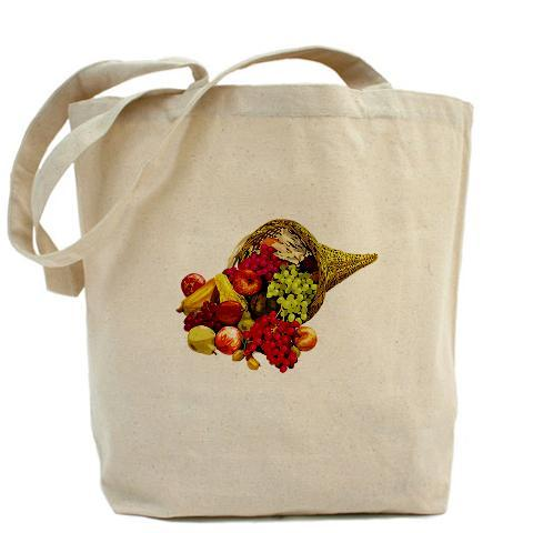 "Cornucopia canvas tote Product InformationOur 100% cotton canvas tote bags have plenty of room to carry everything you need when you are on the go. They include a bottom gusset and extra long handles for easy carrying.  10 oz heavyweight natural canvas fabric Full side and bottom gusset 22"" reinforced self-fabric handles Machine washable Measures 15"" x 18"" x 6"""