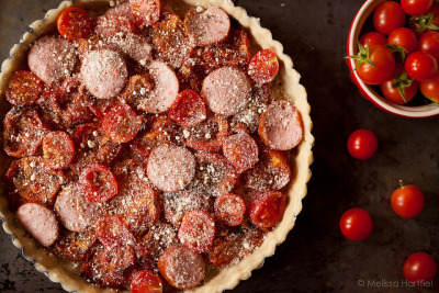 Tomato, Sausage and Goat Cheese Tart Recipe