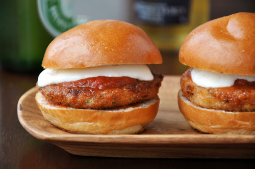 Eggplant Parmesan Sliders on Brioche