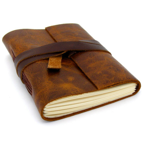 edgina:  Brown Leather Sketchbook or Journal