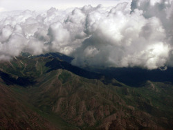 In an Aeroplane Over Boise. I took this photo in 2006, and just did a few color edits to it. I took it from an airplane window while I was flying over Boise.