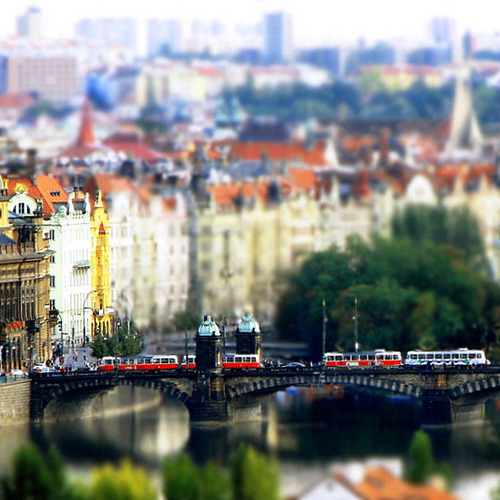 theworldwelivein:  Tilt-Shift | Overlooking the City of Prague, Czech Republic© Maί