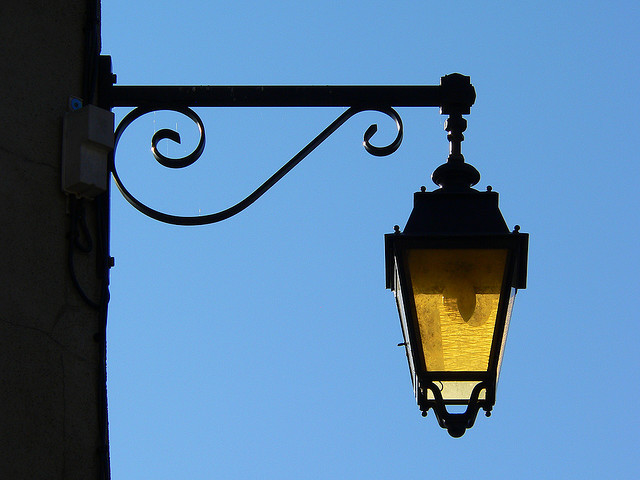 | ♕ |  Antique street lamp - Ardeche, France  | by © Laurent Henocque