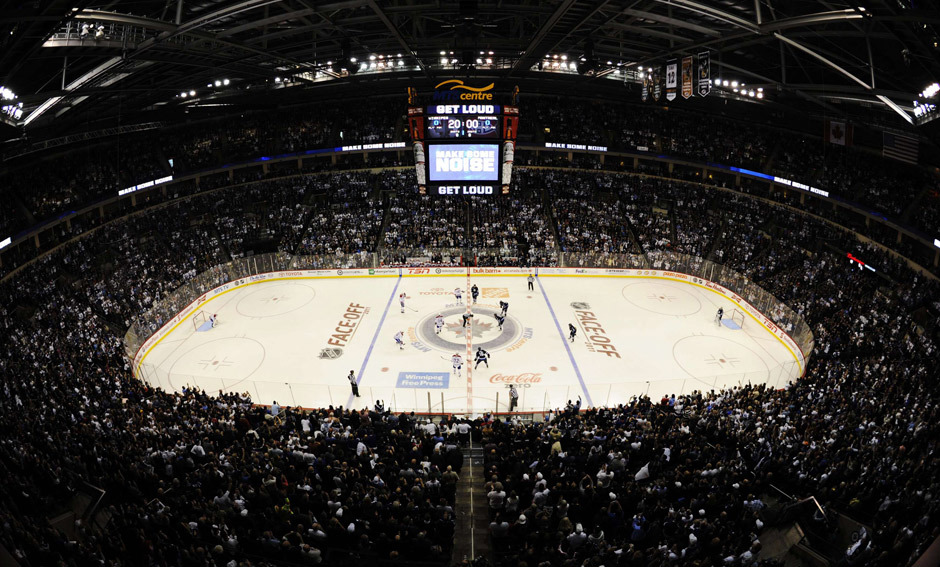 nationalpostsports:  GALLERY: A wide view of the MTS Centre during the home opener of the Winnipeg Jets. Todd Korol/Reuters