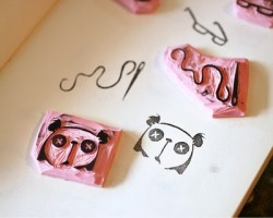 misadventuresofacraftaddict:    DIY: Rubber Stamps   this is such a cool idea you can use old erasers too;) tutorial