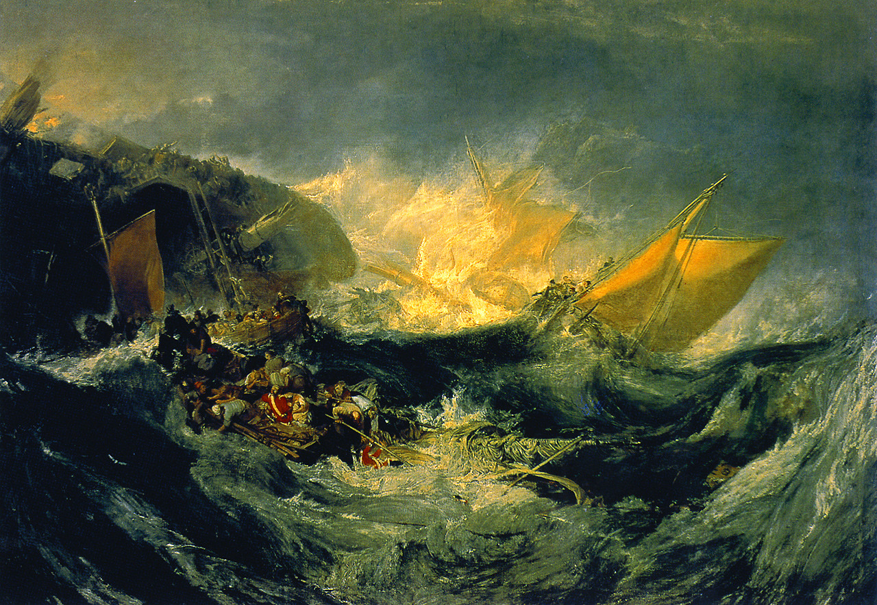 The shipwreck of the Minotaur, oil on canvas | artwork by Joseph Mallord William Turner