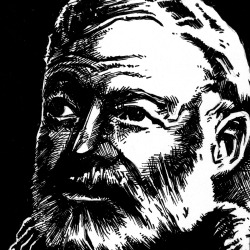 Hemingway - Xeroxed, Negative/Positive Spaces, & Inked 365 Posts
