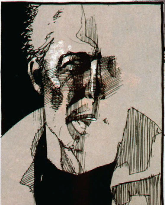 John Constantine as drawn by Dave McKean