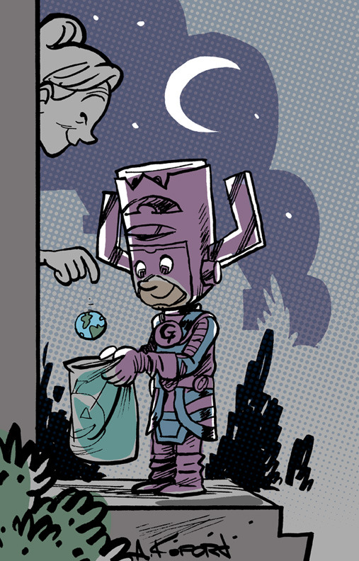 graphicly:  Galactus says, trick of treat.  lulubonanza:  Drawn By Adam Ford Site