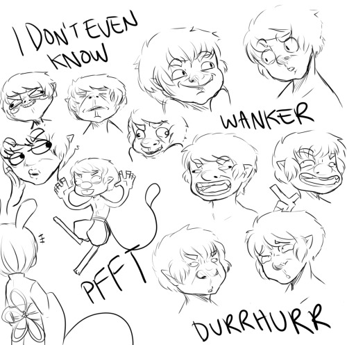 I felt like drawing silly faces. None of these make sense but IT'S FUN…… Moe likes to make kids laugh with funny faces I guess