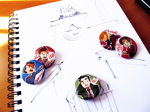hoursago:  thank you for 5k followers giveaway!  ACE ATTORNEY LOT (5 buttons) like and/or reblog to enter NO MULTIPLE REBLOGS - if i catch these i will frown at you and not count them will ship anywhere in the world keep your ask box open so i can contact you please ENDS OCT 31 11:59pm PST you don't have to be following me or any of that nonsense i'll give until wed nov 2 to claim your prize (and a reminder because tumblr hates asks) but if i haven't gotten a response by then i'll pick someone else (available to buy here) ALRIGHT have at it!!