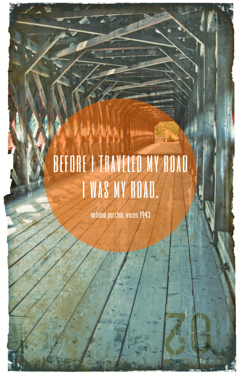 i was my road. ©2011 misterbabbel design