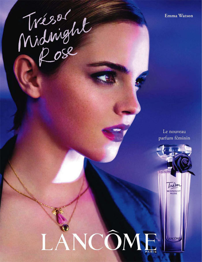 emmawatsonstyle:  official tresor ad  i just want this perfume because she is the face of it….lol
