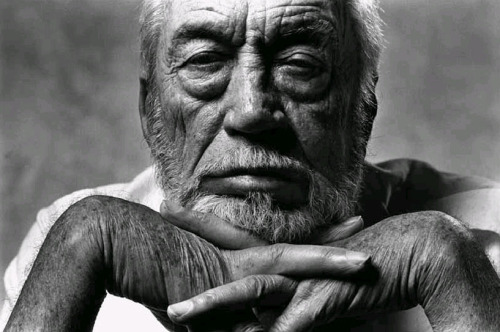 John Huston, Los Angeles, 1985 -by Norman Seeff   [+][compare with the one by Herb Ritts at EGyB] from Norman Seeff