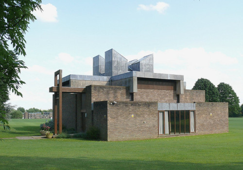 arkthree:  Chapel, Churchill College, Cambridge by Iqbal Aalam on Flickr.  View this on the map