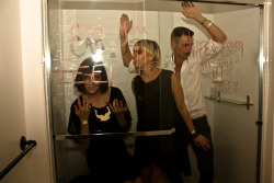 …another photo from Content, via Squirrel and Starling.   The disco shower dance party was a success!