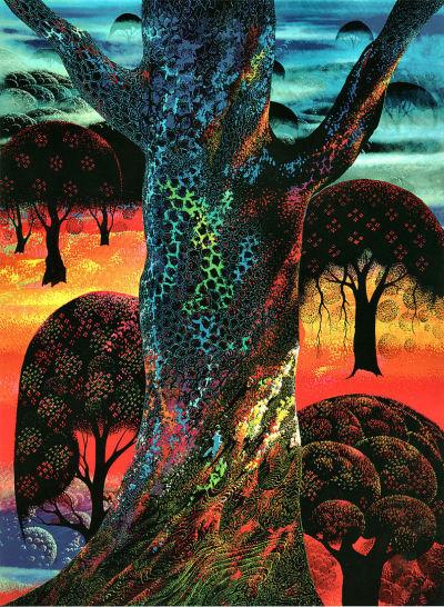 #art, #painting, #illustration, #landscape, #eyvind_earle