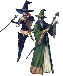Male/Female Wizard Concept